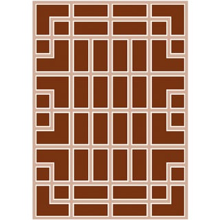 Geometric New Zealand Wool Rug - 7′ × 10′