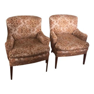 Vintage Floral Arm Chairs - A Pair