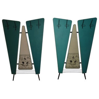 Verona Italian Mid-Century Wall Coat Racks - Pair