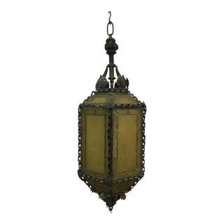1920s American Copper & Bronze Lantern