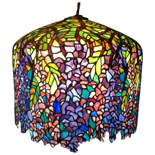 Wisteria Tiffany Style Stained Glass Chandelier