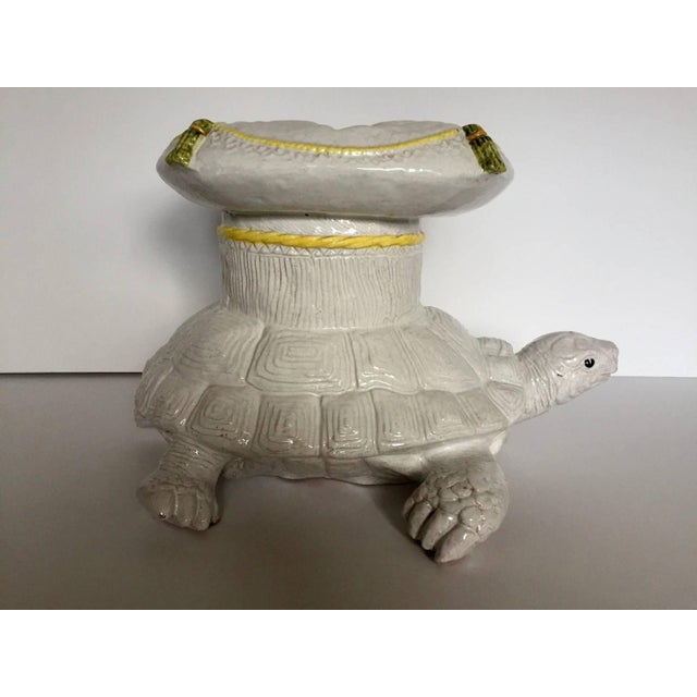 Image of Italian Glazed Terracotta Turtle Table