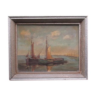 Willy Fasse Vintage 1947 Seascape Painting
