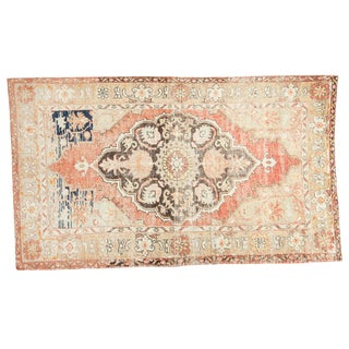 Vintage Oushak Carpet - 4′10″ × 8′2″