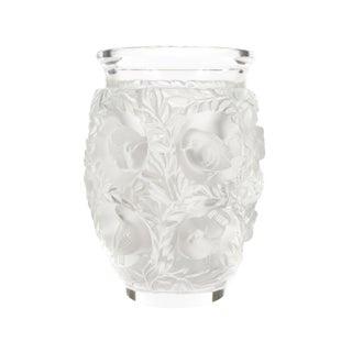 Lalique Paris -Vintage Art Glass Vase With Birds