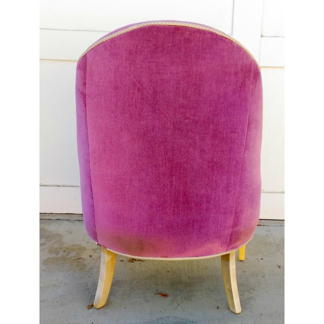 Image of Vintage Lilac Slipper Chair