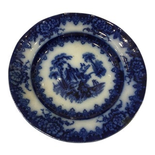 Blue & White Troy Porcelain Plate