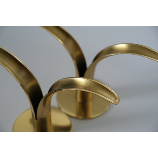 Image of Ystad Brass Lily Candleholders - A Pair