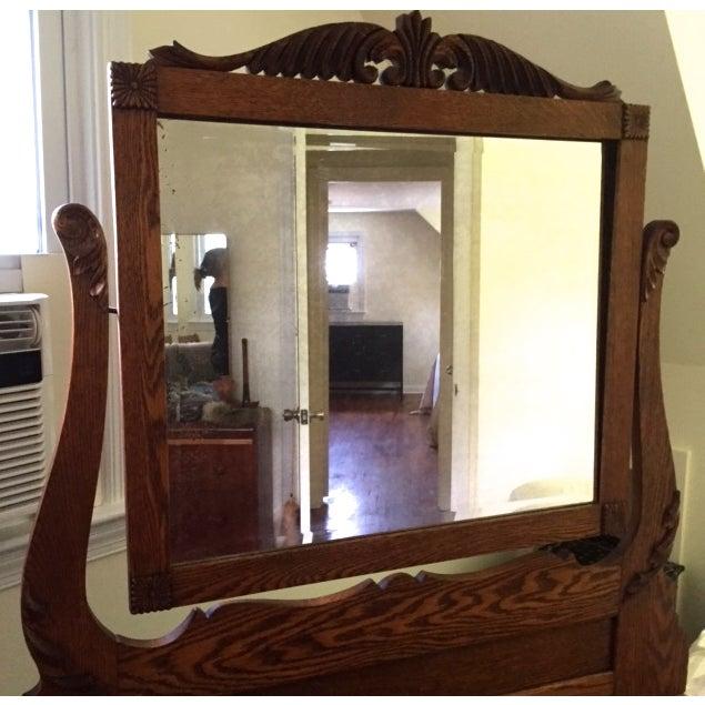Victorian Oak Dresser With Mirror - Image 4 of 4