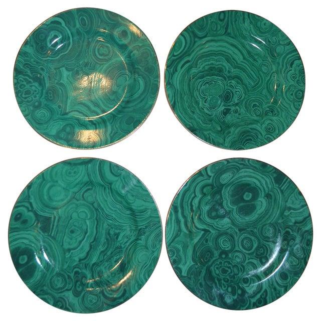 Neiman Marcus Malachite Dessert/Tapas Plates - 4 - Image 1 of 3