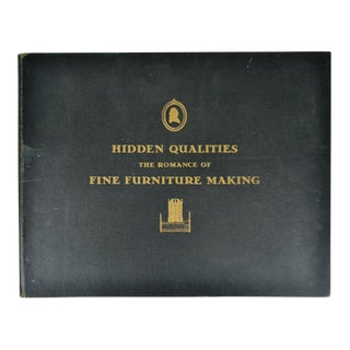1937 Kindle Furniture Book Hidden Qualities The Romance Of Fine Furniture Making