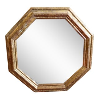 Gold, Octagonal Wall Mirror