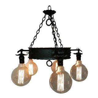 Vintage Farm Exposed Bulb Chandelier