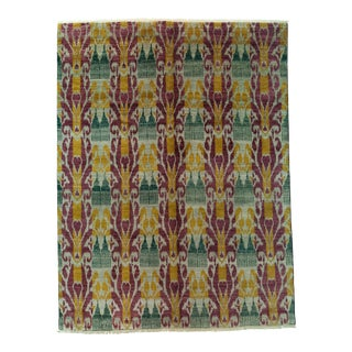 """Ikat Hand Knotted Area Rug - 7'10"""" X 10'3"""""""