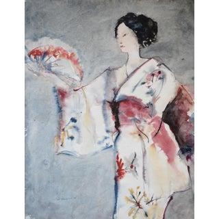 1971 Geisha Watercolor