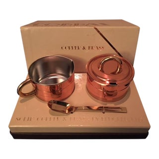 "1970's ""Cobras by Beucler"" Copper and Brass Cream and Sugar Set - 3 Pc."