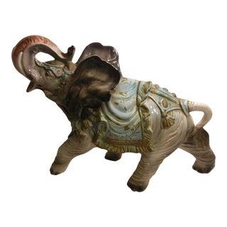 Vintage Art-Deco Italian Ceramic Large Circus Elephant