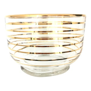 Vintage Gold Striped Candy Bowl/Dish