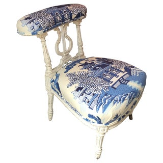 Louis XVI Style Painted Voyeuse #589 Chair