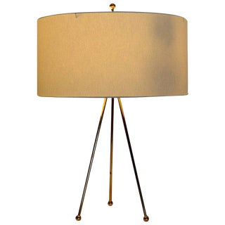 Brass Tripod Table Lamp Attributed to Robsjohn-Gibbings, Hansen Lighting Co.