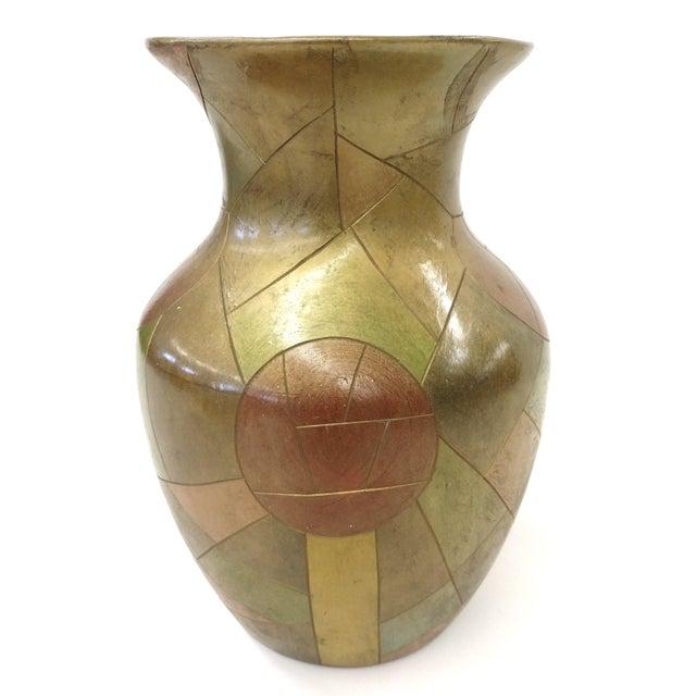 Image of Unique Chinese Vintage Patchwork Ceramic Vase