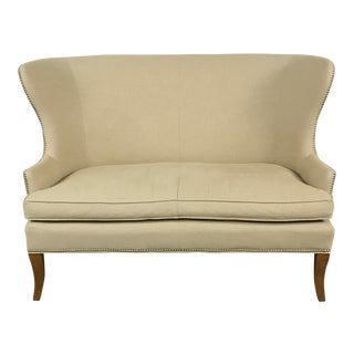 Tan Dowel Pinned Settee