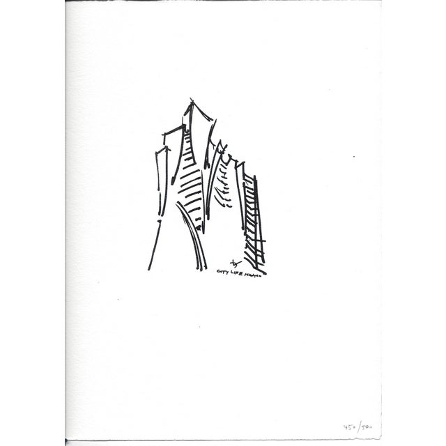 Limited Edition Print of Daniel Libeskind Sketch - Image 3 of 3