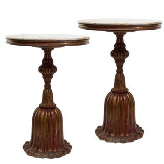Pair of Gilt Wood Side Tables