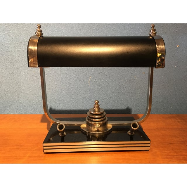 Image of Vintage Desk Lamp With Fountain Pen Holders