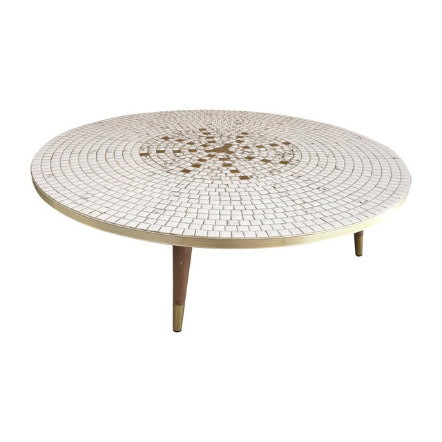 Mid Century Modern Mosaic Tile Coffee Table
