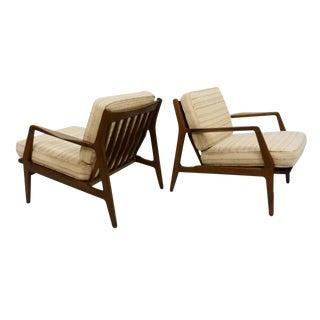 IB Kofod Larsen Danish Modern Lounge Chairs - A Pair