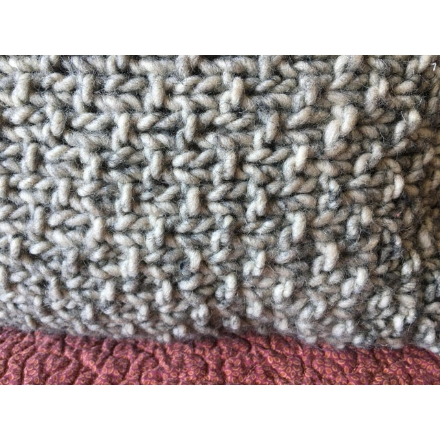 Knotted Wool Pillows, Warm Grey Decor Set/2 - Image 7 of 8