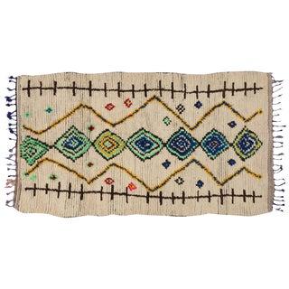 Vintage Berber Moroccan Azilal Rug, 4'4x7'6