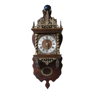 Ornate Antique Hanging Clock