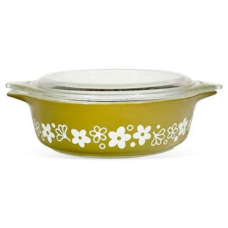 1970s Covered Pyrex Glass Casserole