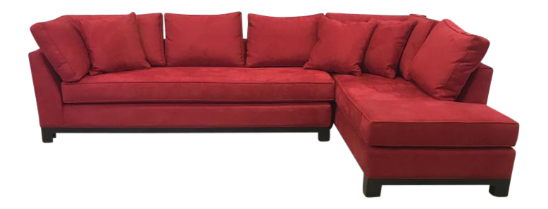Century Furniture Microsuede Sectional Sofa - Image 1 of 11  sc 1 st  Chairish : century furniture sectional - Sectionals, Sofas & Couches