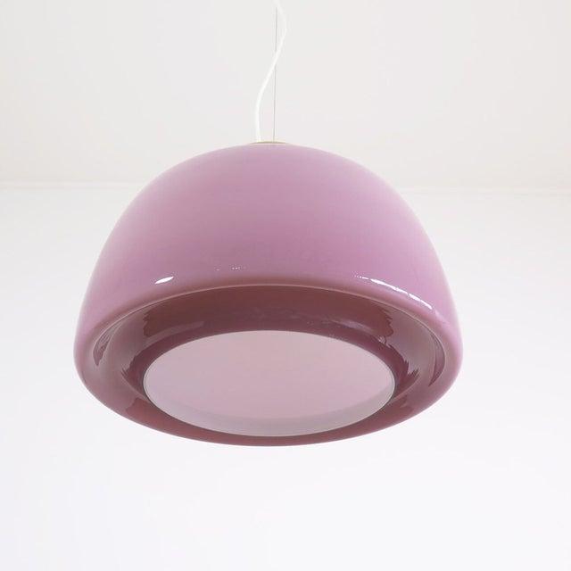 Lilac Murano Glass Italian Pendant Lamp - Image 2 of 3