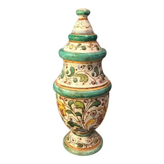 Italian Painted Lidded Jar