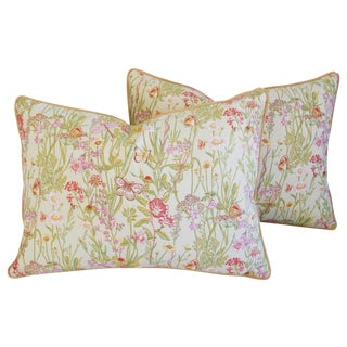 Designer Brunschwig & Fils Meadow Pillows - Pair