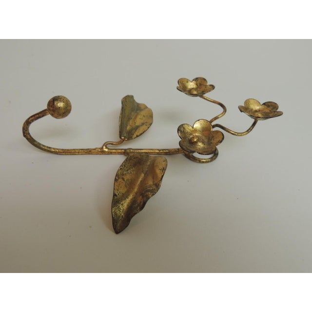 Vintage Gilded Italian Floral Coat Hook - Image 2 of 2