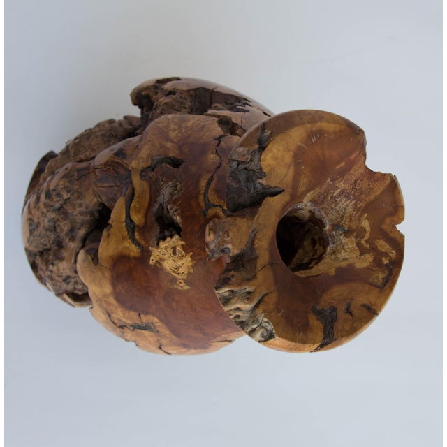 Turned Burl Wood Vase - Image 8 of 10