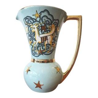 Boch Freres Gilt Aries Pegasus Art Deco Vase