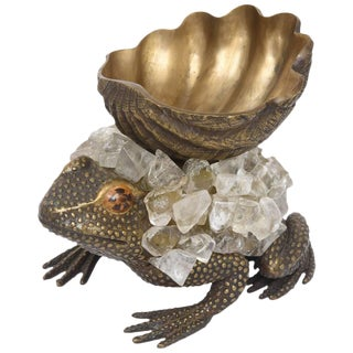 Whimsical Bronze Frog