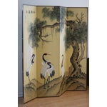 Image of Hand Painted Asian Silk Room Divider