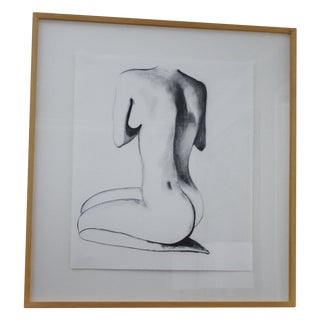 Original Charcoal Nude Drawing by Kendra Dennis