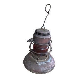 Railroad Lantern/ Traffic Gard Light with Red Globe