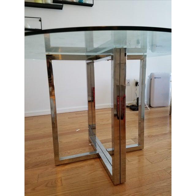 Silverado Chrome 47 Round Dining Table Chairish