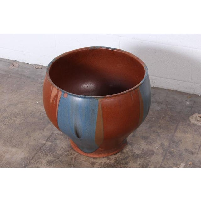 David Cressey Flame Glazed Planter for Architectural Pottery - Image 9 of 10