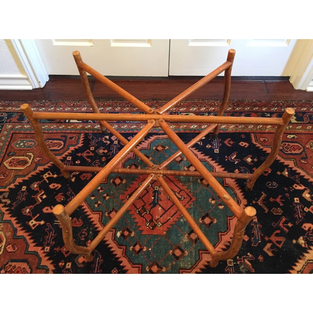 Mid-Century Hand-Hammered Brass Tray Coffee Table - Image 7 of 8