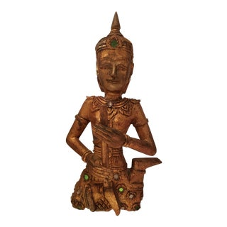 Gilt Carved Wood Thai Sculpture